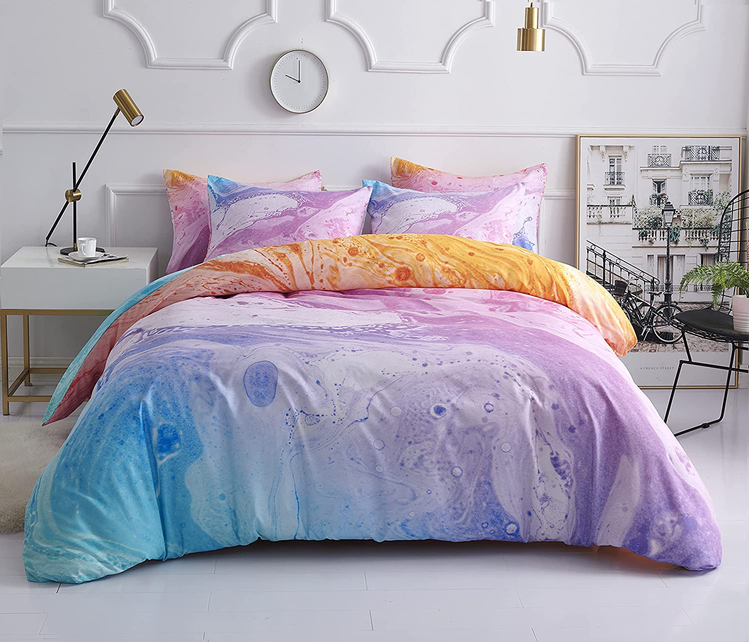 Tie Dye Ranking TOP19 Duvet Cover Queen Size 100% Comfo Microfiber Washed New arrival Set