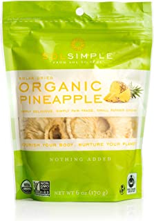 Sol Simple Solar Dried Pineapple Snack, Ethical Trade From Nicaraguan Smallholder Farmers, Gluten & Preservative Free, No ...