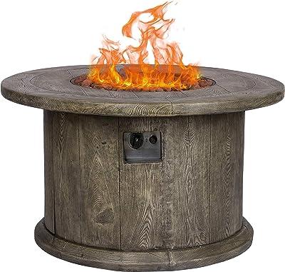 Shine Company 6301GY Merida Gas Fire Pit, Grey