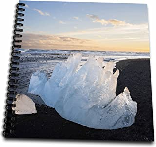 3dRose db_209695_2 Vatnajoekull NP, Iceland Iceberg on a Beach at Lagoon Joekulsarlon Memory Book, 12 by 12