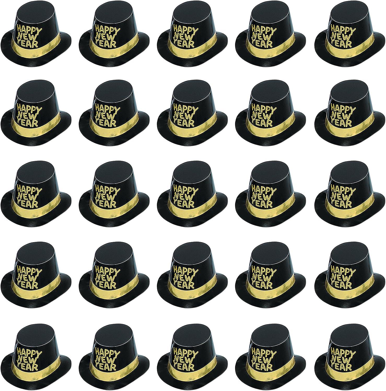 Beistle 88618-c2525tlg. schwarz HiHat mit Silber Blttern Veloursleder, ca. schwarz Gold