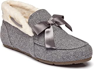 Vionic Women's Haven Shirley Slipper - Ladies Faux Shearling Ankle Slippers with Concealed Orthotic Arch Support Charcoal 9 Medium US