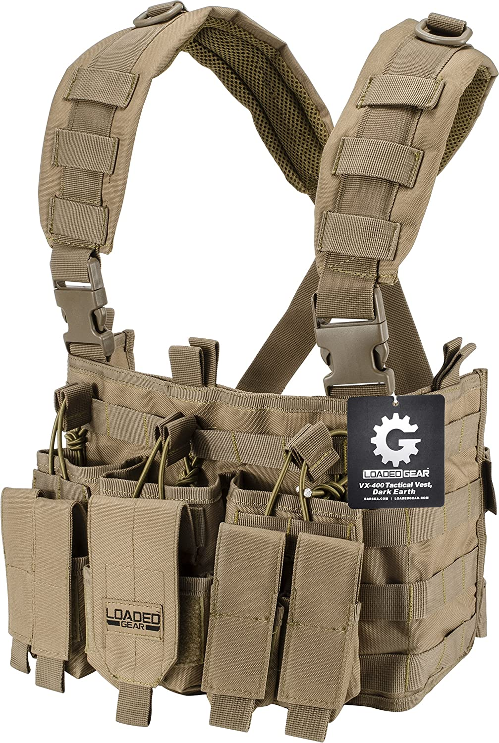 Loaded Phoenix Mall Gear Chest Rig Vest Breathable Max 41% OFF Law Enforcement Comba