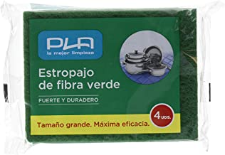 PLA Estropajo Fibra Verde Pack de 4 Unidades