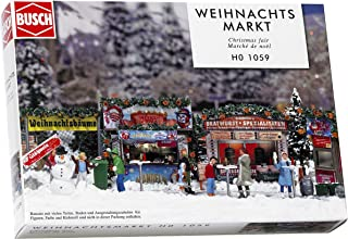 Busch 1059 Christmas Fair Street Scn HO Scale Scenery Kit