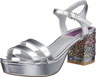 fbeccb17 Amazon.es: Sandalias Color Plata - 4 - 7 cm / Zapatos para mujer ...