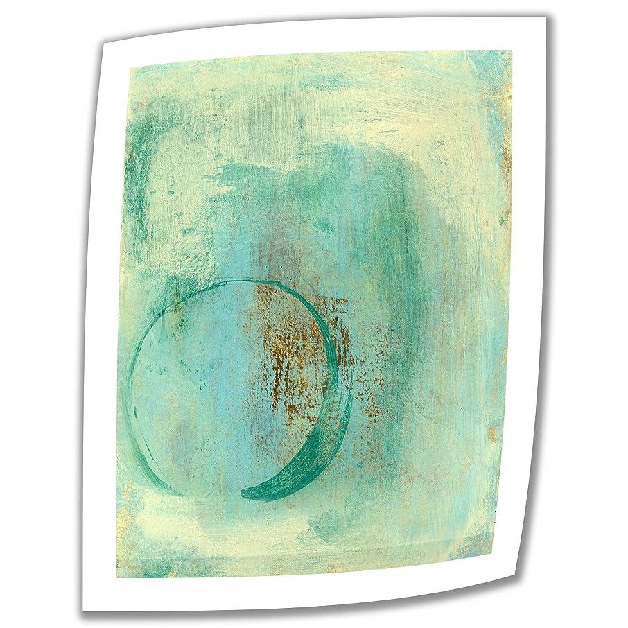 シャイニング指標間違いなくElena Rayによるアートウォールティールエンソ18×14インチのアンラップキャンバスアート、2インチのアクセントボーダー付き。
