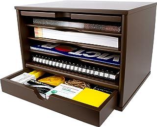 $80 » Victor Wood Desktop Organizer with Closing Door, 4720 (Brown Mocha)