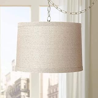 plug in drum shade chandelier