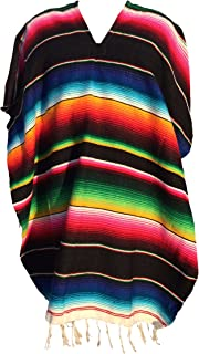 Trade MX Authentic Mexican Ponchos Sarapes Mexicanos Adult Size (Multiple Colors Available)