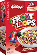 Kellogg's Froot Loops Cereal, Family Size, 580g/20.5oz, Imported from Canada}