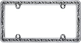 Cruiser Accessories 18503 Zebra Bling License Plate Frame, Chrome/Clear