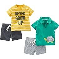 Baby Boys' 4-Piece Playwear Set