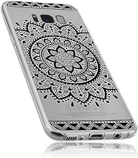 mumbi 手机保护套 适用于Samsung三星 Galaxy S8 曼陀罗设计黑色