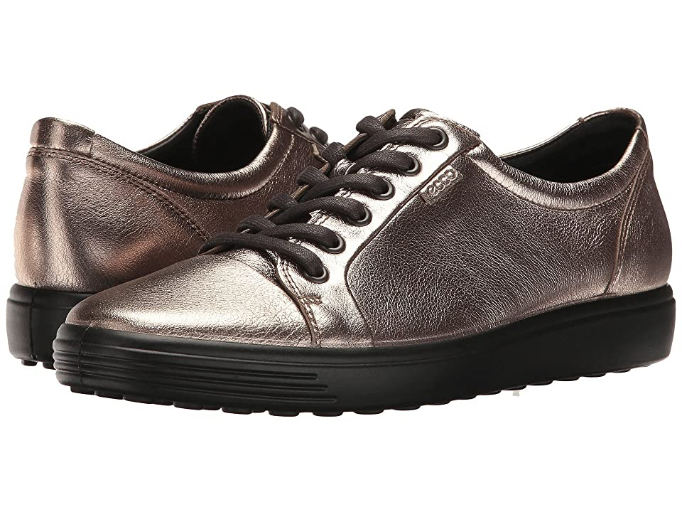 ECCO Soft 7 Sneaker (Warm Grey) Women's Lace up casual Shoes, Multi