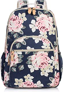 Floral Backpack for Women, College Laptop School Bags Bookbag Hiking Daypack