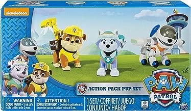 Paw Patrol Action Pack Pups Figure Set, 3 Pack, Everest/Robodog/Rubble