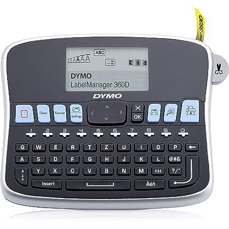 DYMO LabelManager 360D - Impresora de etiquetas (180 x 180 DPI/térmica directa/12 mm/seg/patalla LCD/9 etiquetas/197 x 150 x 71 mm/teclado ...