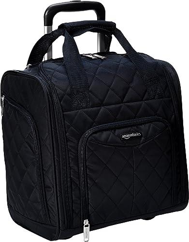Amazon Basics Bagage cabine compact, Noir matelassé