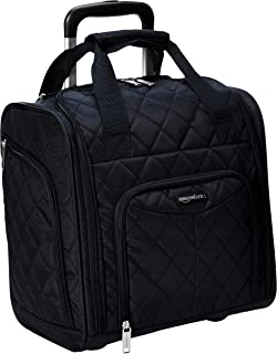 AmazonBasics Underseat Trolley Luggage, Black Quilted