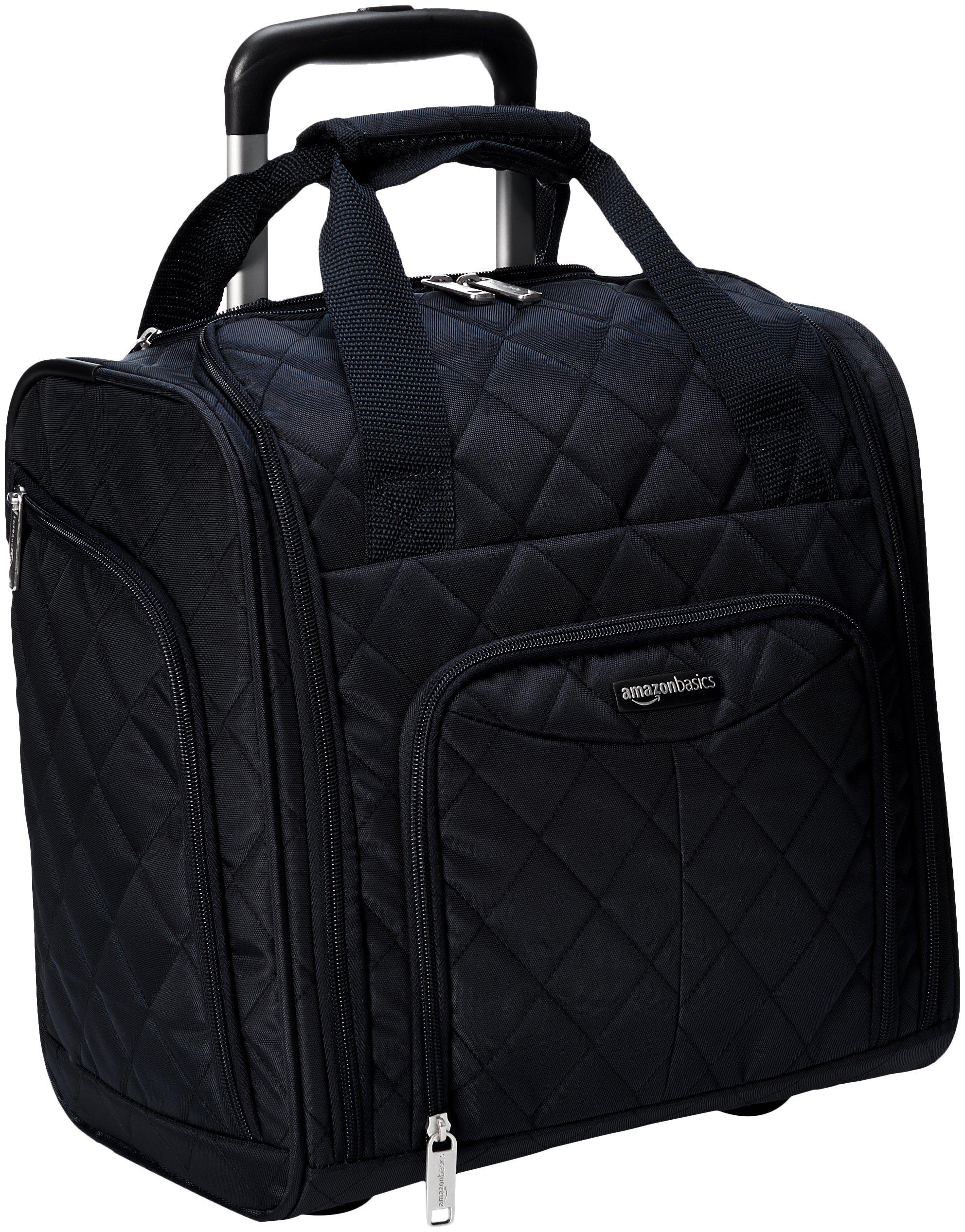 AmazonBasics Underseat Rolling Travel Luggage