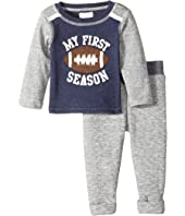 Mud Pie My First Football Pants Set (Infant)