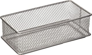 Ybm Home Silver Mesh Drawer Cabinet and or Shelf Organizer Bin, School Supply Holder Office Desktop Organizer Basket 1594 ...