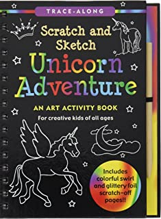 Unicorn Adventure Scratch and Sketch: An Art Activity Book for Creative Kids of All Ages