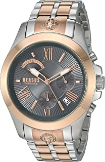 Versus by Versace Men's Chrono Lion Extension Gold Quartz Watch with Two-Tone-Stainless-Steel Strap, 172 (Model: VSPBH1518)