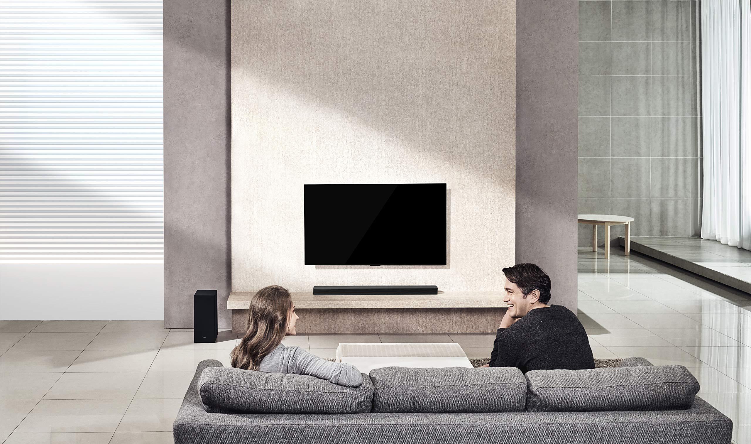 LG SK6 - Barra de Sonido de 360 W 2.1 (DTS Virtual:X, Hi-Res Audio ...