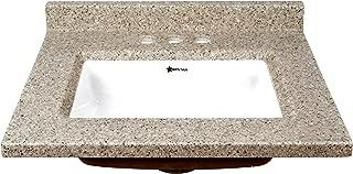 Latte, Gloss, 17x19, Cultured Granite, Catia, Vanity Top
