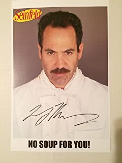 Seinfeld TV Series 11x17 Poster Signed Autographed by Larry Thomas as the Soup Nazi
