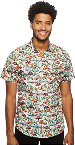 Robert Graham Old Havana Short Sleeve Woven Shirt