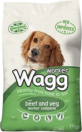 Wagg Complete Worker Dry Mix Dog Food Beef and Vegetables, 17kg product image