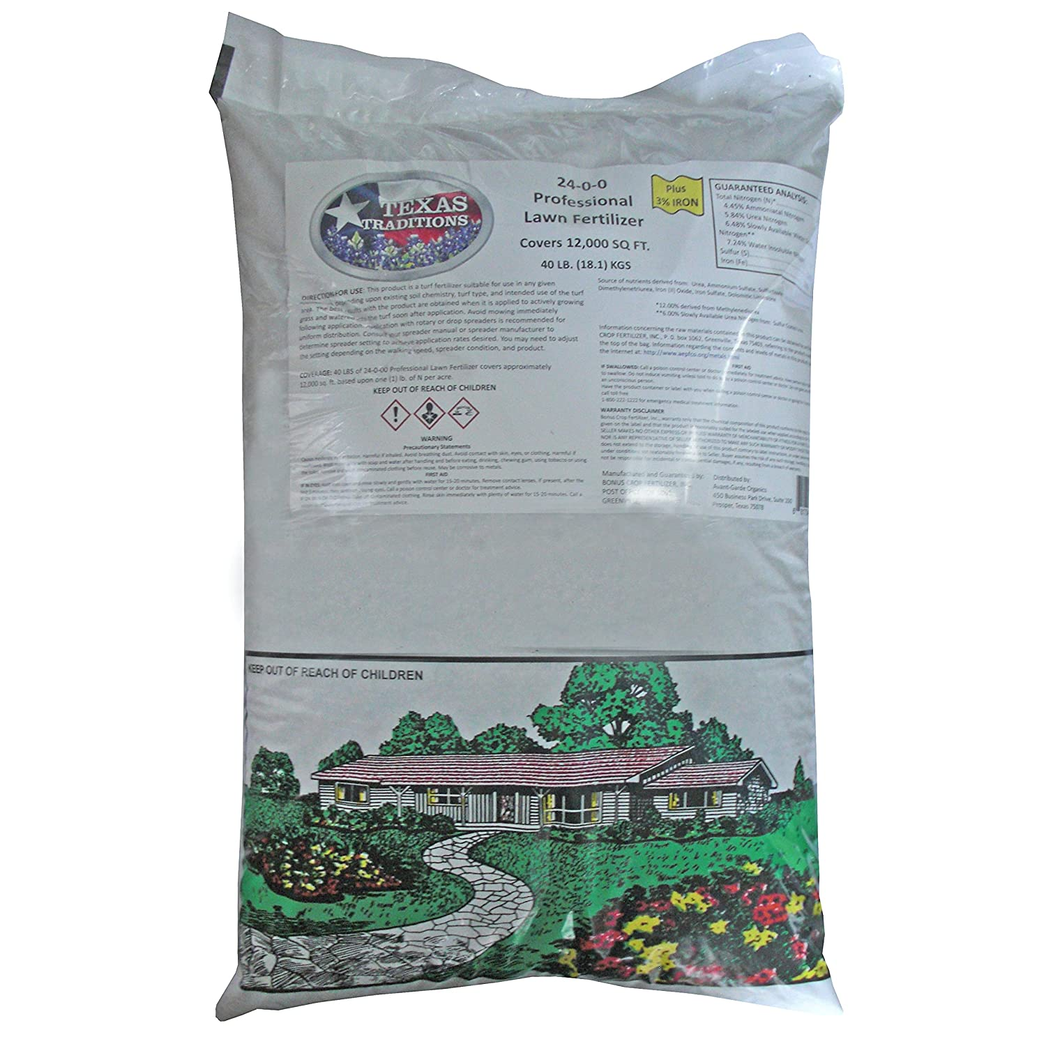 Texas Traditions 24-0-0 Professional Limited time sale Lawn lb. A surprise price is realized 40 Fertilizer