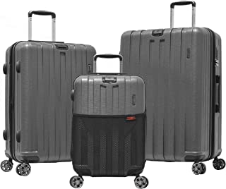 Olympia Sidewinder 3 Piece Luggage Set 21/25/29 Inch, Gray, One Size