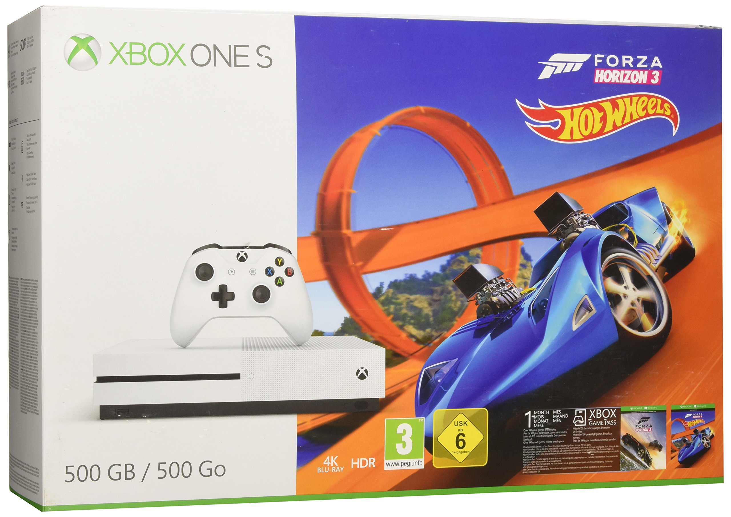 Xbox One S - Consola 500 GB + Forza Horizon 3 + Hot Wheels: Amazon ...