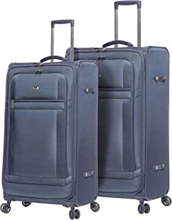 fbf560c6f2f2 Lightweight Large Luggage Sets 2 piece - Reinforced Suitcases Set (Navy)