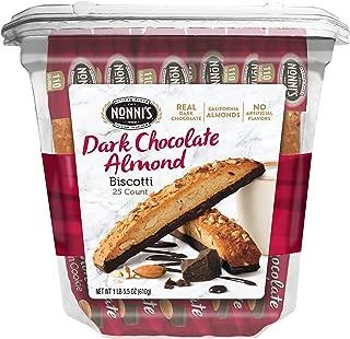 Nonni's Biscotti Value Pack, Cioccolati Dark Chocolate Almond, 25 Count