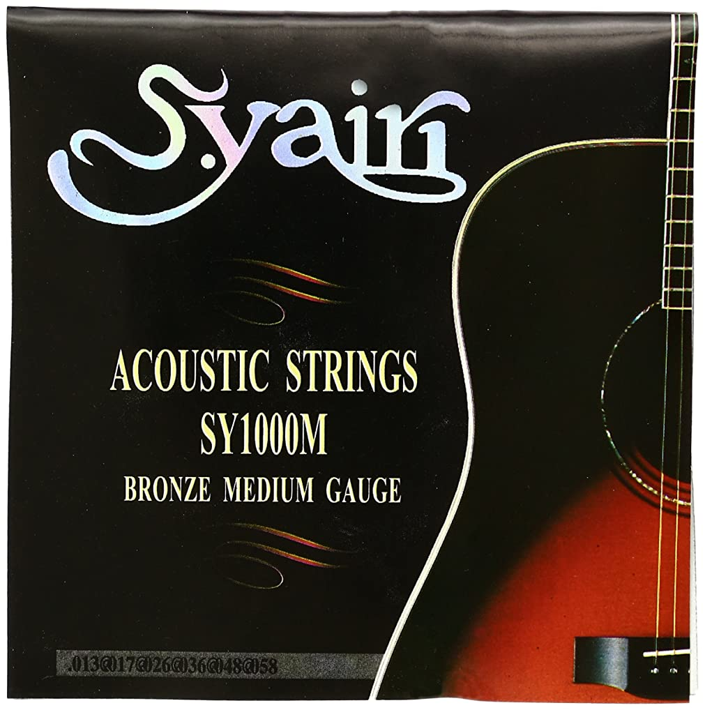 敵意シャットビリーヤギS.Yairi アコースティックギター弦 SY-1000M ミディアム (013-058) SY-1000M