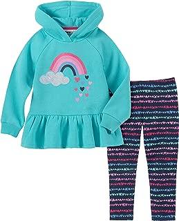 Kids Headquarters Baby Girls 2 Pieces Hooded Leggings Set