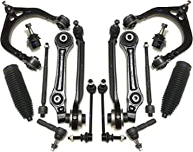 PartsW 16 Pc Complete Suspension Kit for Chrysler 300, Dodge Charger, Challenger & Magnum, All 6 Lower & Upper Control Arm, All 6 Inner Outer Tie Rod Ends & Boots, 2 Sway Bar Link, All 6 Ball Joints