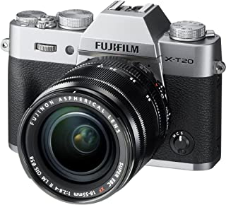 Fujifilm X-T20-24.3 MP Mirrorless Digital Camera with XF 18-55mm F2.8-4 R LM OIS Lens, Silver