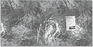SIGEL GL268 Lavagna magnetica di vetro/bacheca di vetro Artverum, Design Shiny-Silver, 91 x 46 cm