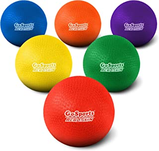 "GoSports Playground Balls for Kids (Heavy Duty Set of 6) with Carry Bag and Ball Pump (Choose 8.5"" or 10"" Sizes)"