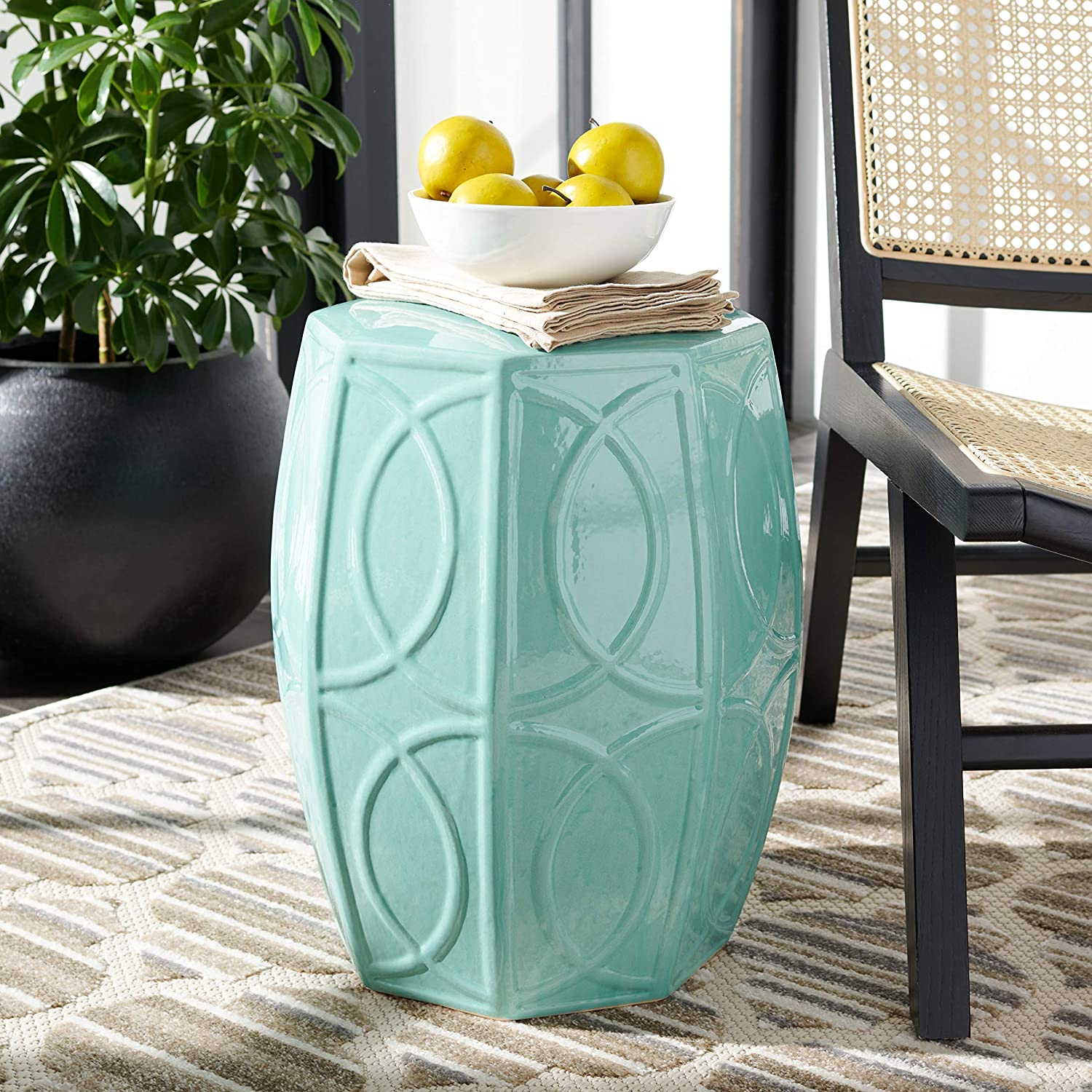 Indianapolis Mall Safavieh Home Collection Kameko Blue Decorative S Inventory cleanup selling sale Garden Ceramic