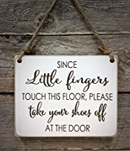 Little Fingers (Baby) Front Door Sign - Please Take Your Shoes Off Sign - Baby Shower Gift