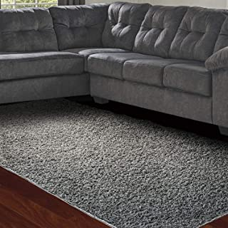Modern Shaggy Area Rug Pad| 39.3 x 60.2 Size | Ultra Soft, Luxury Carpet for Home, Bedroom, Living Room, Bathroom/Toilet| Grey, Plush| Decorative Footcloth/Floor Cover/Play Mat by Amy & Delle