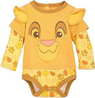 Disney Simba Long Sleeve Bodysuit for Baby Size 3-6 MO Multi
