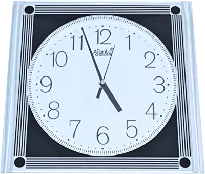 Ajanta Simple Clock (White, 347)
